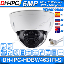 Dahua IPC HDBW4631R S 6MP POE IP Camera Support 30M IR IK10 IP67 POE H.265 SD Card Slot WDR Upgrade From IPC HDBW4431R S