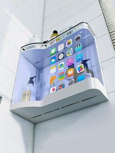 Organizer-Holder Shelf-Shampoo Storage-Rack Bathroom-Accessories Wall-Mounted Cosmetic