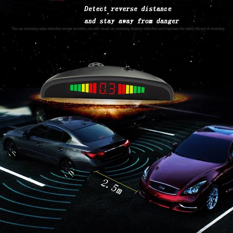 Auto Auto Parktronic LED Parkplatz Sensor Mit 4 Sensoren Reverse Backup Parkplatz Radar-Monitor Detektor System Alarm aufforderung