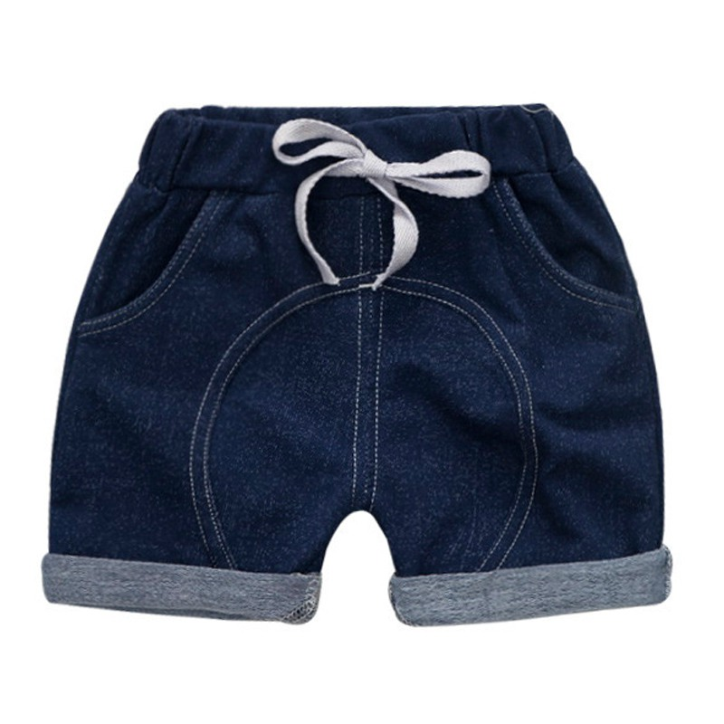 WEIXINBUY Summer Children Boys Girls Solid Print Denim Short Pants Trousers Kids Casual Shortss