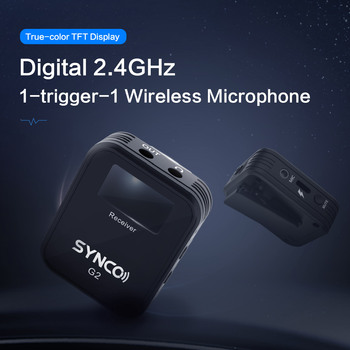 SYNCO G2 G2A1 G2A2 Wireless Lavalier Microphone System for Smartphone Laptop DSLR Tablet Camcorder Recorder pk comica 5