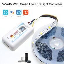 5v 24v wifi smart life приложение одного цвета/cct/rgb/rgbww/rgbcct