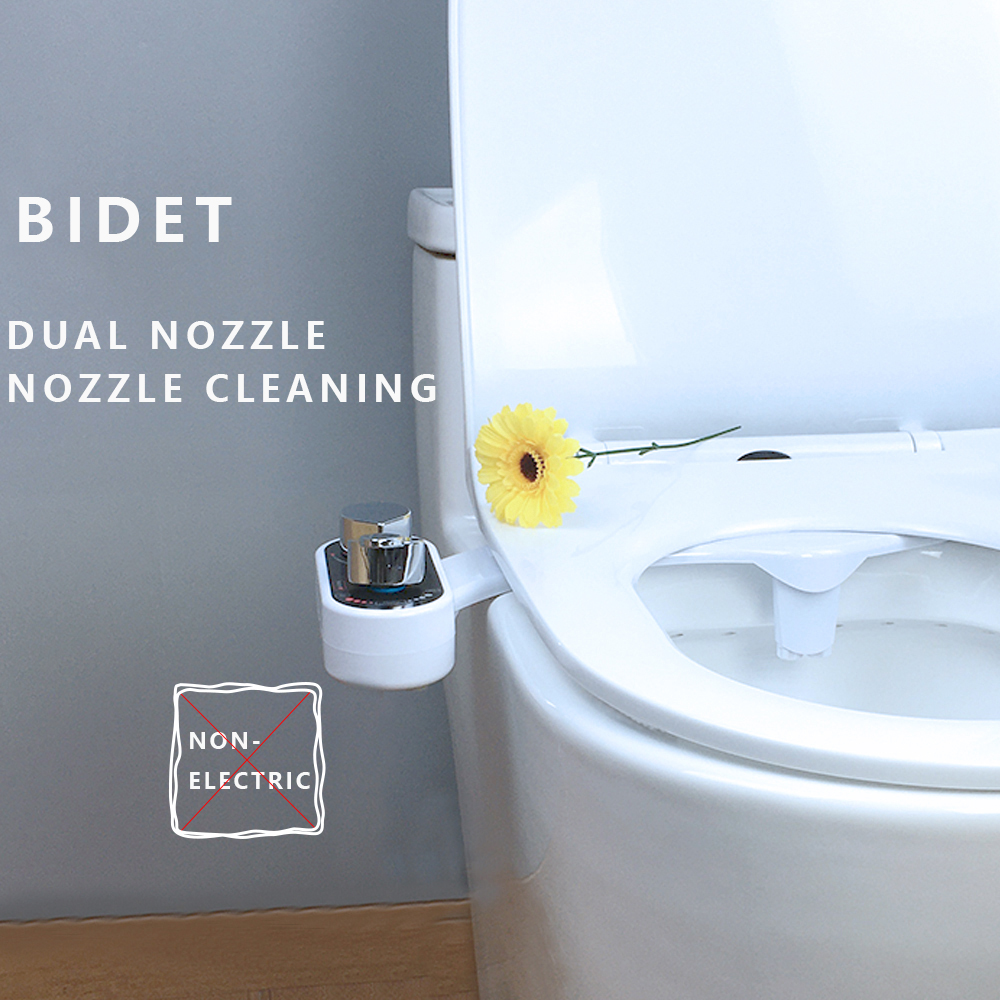 Bidet Non Electric Hot Cold  Bidet Toilet Seat Sprayer Bottom Cleaning Sprinkler Nozzle Self-cleaning Water Gun Muslim Shower