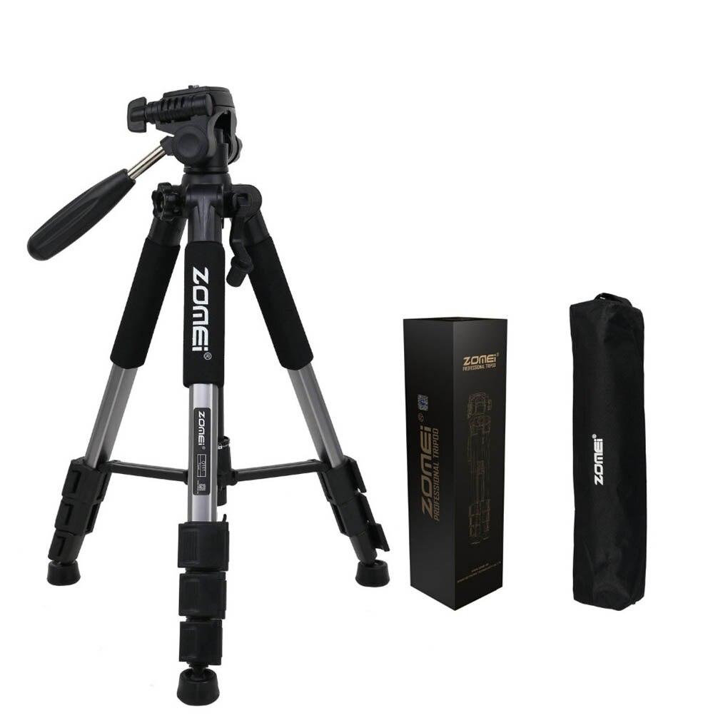 ZOMEI Q111 trípode de cámara profesional portátil de aleación de aluminio soporte de viaje ligero cámara Digital SLR DSLR trípode