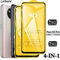 Poco-X3 Pro Glass Xiaomi Poco X3 Pro Protector de pantalla para móvil poco x 3 pro película de cristal para Smartphone Poco X 3 poco x3 pro cristal templado xiaomi poco x3pro