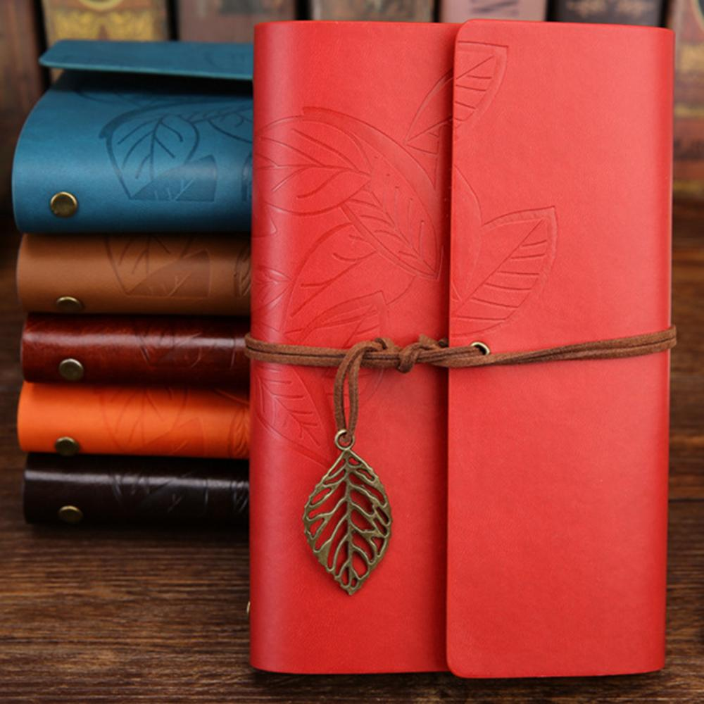1Pc 80 Sheets Leaf Diary Journal Blank Notebook School Stationery