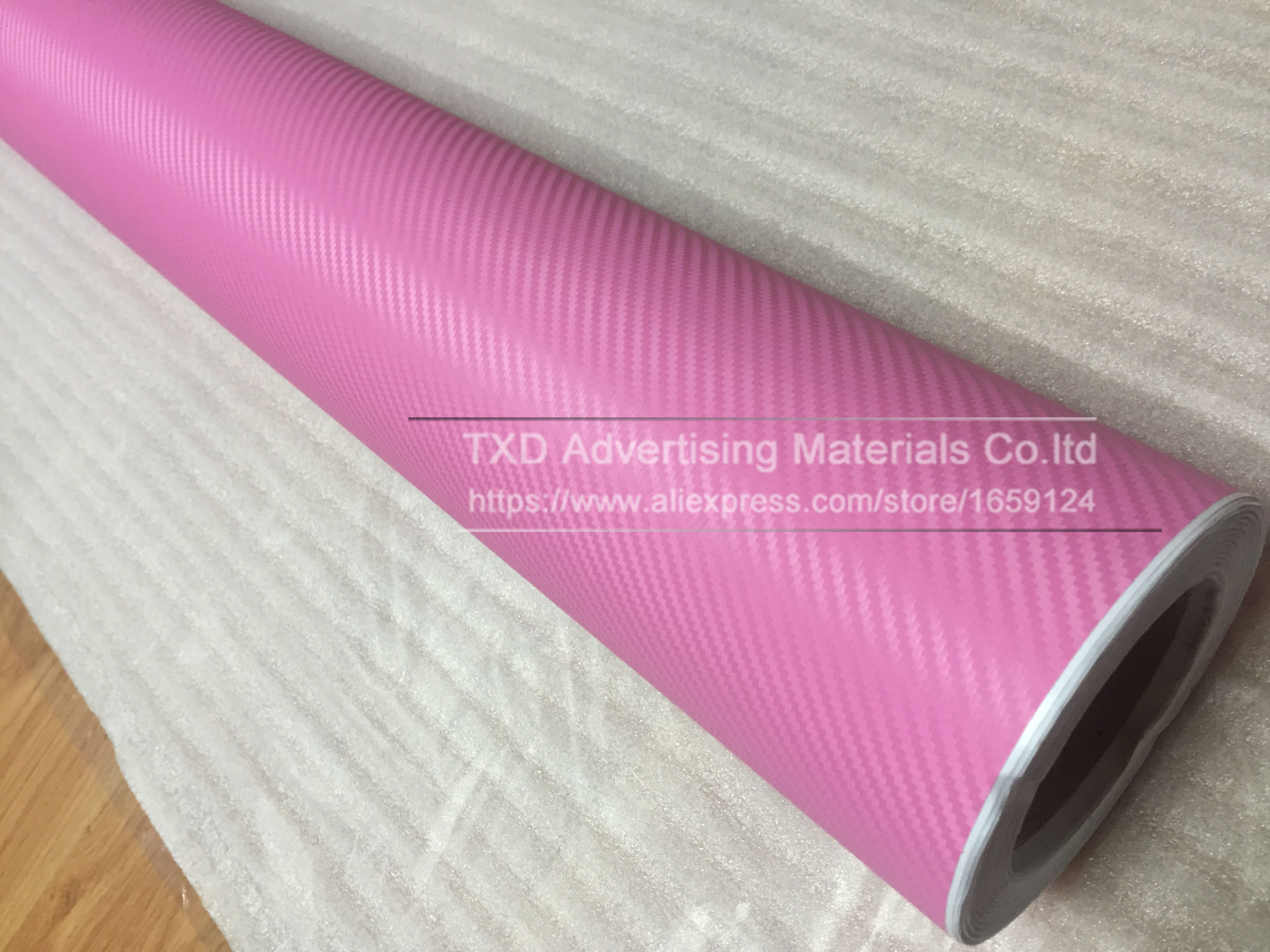 Image 5 - 127CMX30CM Pink Carbon Fiber Vinyl Film Car Sticker Decal DIY 3D Car Styling Decorative roll sticker for Mobile Phone Laptop-in Car Stickers from Automobiles & Motorcycles