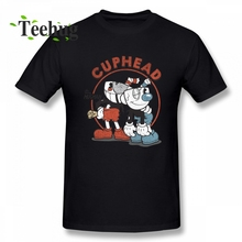 Cuphead T shirt Plus szie New Arrival 3D Print For Man Round Collar Shirt