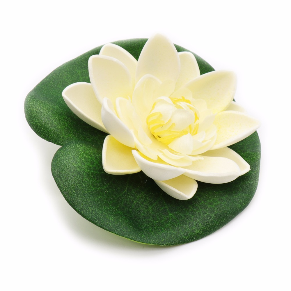 5Pcs Real Touch Artificial Lotus Flower Foam Flowers Water Lily Floating Pool Plants Ornament Wedding Garden Pond Decoration