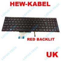 Inglês reino unido original novo teclado para lenovo y50 y50 70 us y70 70 y70 teclas vermelhas com vermelho backlit layout do reino unido|Teclado de substituição| |  -