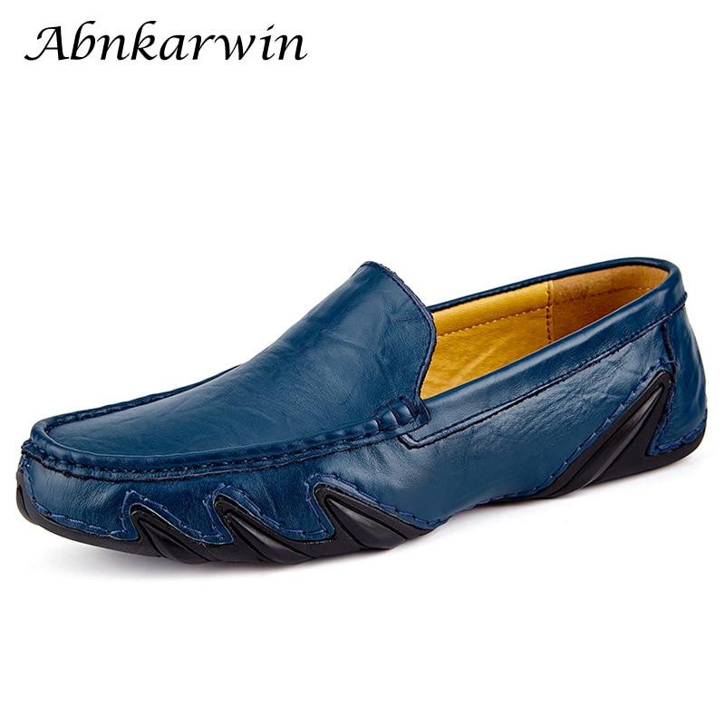 Casual Men Leather Shoes Boat Man's Shoe Loafers Mocassin Men's Loafer Man Slipons Moccasins Hot Sale Driving Brand Desinger