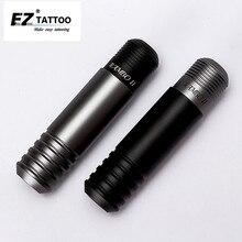 EZ ランボー II ペンロータリーカートリッジタトゥーマシンペン黒/グレー日本 DC コアレスモーター rca 接続カートリッジ針