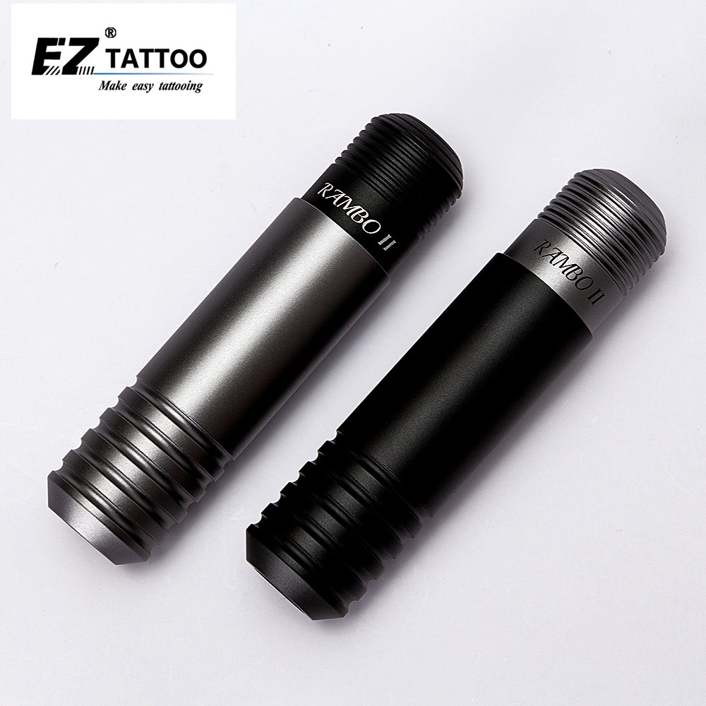 EZ Rambo II Pen Rotary Cartridge Tattoo machine Pen Black/Grey Japan DC Coreless Motor with RCA Connection for Cartridge needles