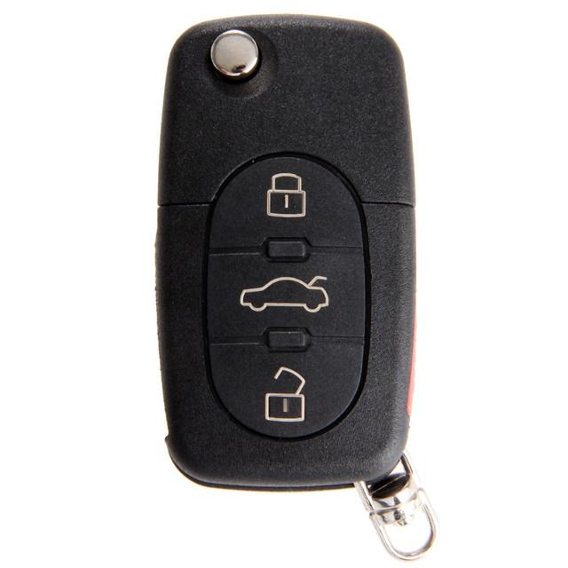 4 לחצנים מרחוק Flip מתקפל מפתח Shell Case עבור אאודי A4 A6 A8 Quattro TT S4 S8 CR2032 החלפת Keyless fob