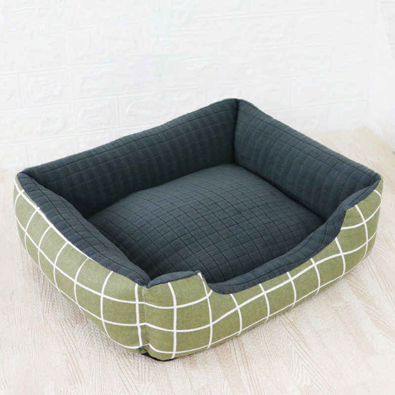 Pet Cat Dog Bed Warm Cozy Dog House Soft Nest Dog Baskets House Mat Autumn Winter Waterproof Kennel Removable Dog Bed 7