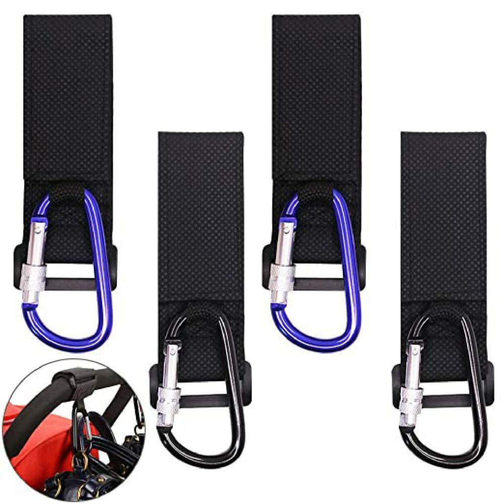 1Pc Baby Stroller Accessory Multi Purpose Bag Hook Pram Hanger with Carabiner Pram Stroller Peg To Hook Cover Blanket Tools
