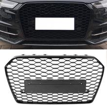 Car Front Bumper Grill Center Grille for Audi A6/S6 2016 2017 2018 (Refit for RS6 Style) car-styling accessories