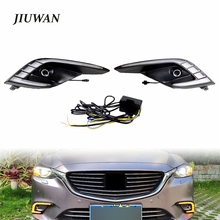2 Pcs Durable Car Daytime Running Light Fog Lamp Turn Signal Lamp Driving Lights Part Fit For Mazda 6 Atenza 2016 2017 2018