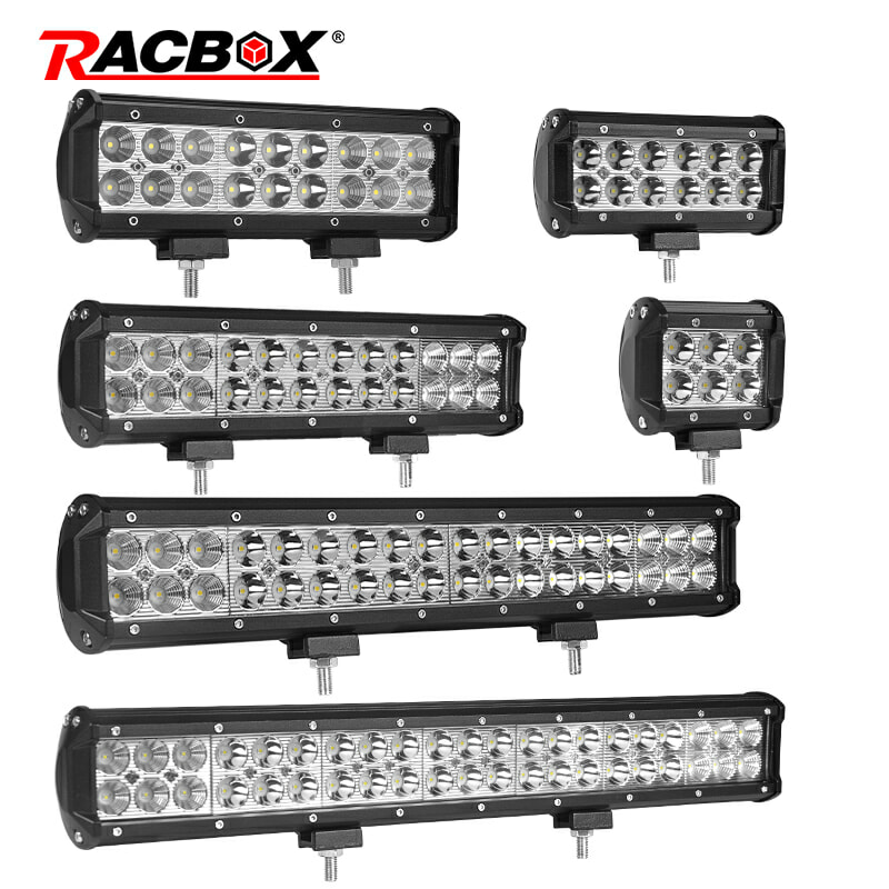 "4"" 7"" 9"" 12"" 17 20 28 36 44 Inch Off Road LED Light Bar Spot Flood Combo Beam 72W 126W 12V 24V LED Work Lamp For 4x4 UTV ATV SUV"