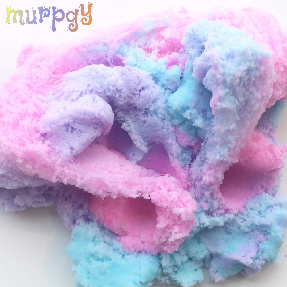 80ml Colorful Cloud Slime Fluffy Polymer Anti Stress Charms Cotton Mud Magic Glue Crystal Clay Plasticine Supplies Kids Toys