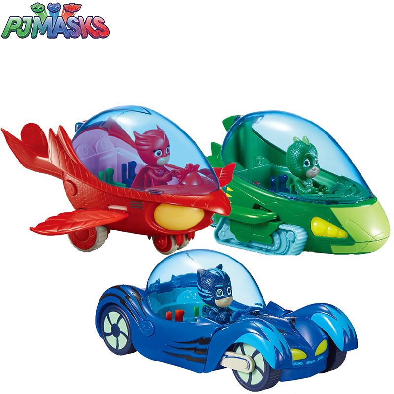 Genuine PJ Masks Toy Car Original Juguete Luxury Connor Cat Kid Owl Girl Flying Wall Man Anime Figure For Children Birthday Gift