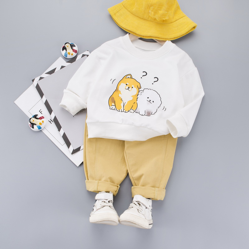 2020 Spring Baby Clothes Kids Set Cartoon Toddler Clothes Spring Fall Cotton Casual Suit For Boy Girl Infant 1-4 Years