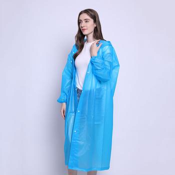 Unisex Vogue wodoodporny wielokrotnego użytku płaszcz przeciwdeszczowy Outdoor gadżet trwały przezroczysty płaszcz przeciwdeszczowy sprzęt przeciwdeszczowy tanie i dobre opinie Odzież przeciwdeszczowa Raincoat Z tworzywa sztucznego Dorosłych WOMEN