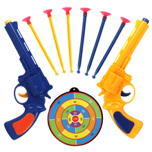 2pc Juguete Pistola Children Gun Toys Soft Bullet Plastic Revolver Kids Fun Outdoor Game Shooter Toy Classic Gift