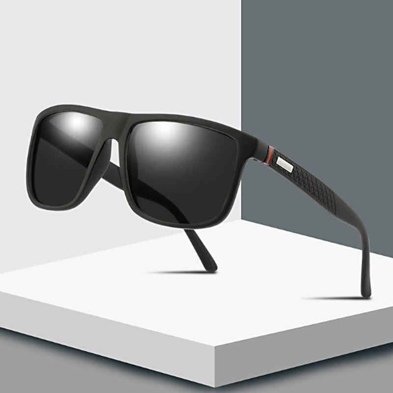 Brand Square Polarized Sunglasses Classic Driving Coating Mirror Sun Glasses For Men Vintage UV400 Shades Eyewear Gafas De Sol