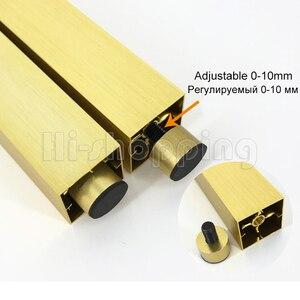 Image 3 - 4 adet Metal mobilya ayakları fırçalanmış altın 6 8 10 12 15 18 20CM TV dolabı banyo dolabı kahve masa Dresser koltuk ayakları