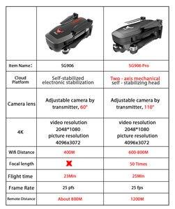 Image 2 - Drone GPS ZWN SG906 / SG906 Pro, avec caméra Wifi FPV 4K HD, quadrirotor sans brosse à cardan, auto stabilisant à deux axes