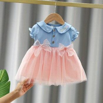 Для маленьких девочек; Сезон Лето Одежда для самых маленьких, 1st на день рождения, вечерние платья принцессы для девочек для маленьких девочек одежда для детей Vestidos, милое платье с бантом; Платье для малышек|Платья|   | АлиЭкспресс