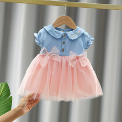 Baby Girl Summer Clothes Infant 1st Birthday Party Princess Dresses for Baby Girls Clothing Vestidos Cute Bow Toddler Dress
