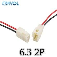 6.3mm złącze 2P 2 pinowe elektryczne zestawy złączy 6.3 męskie gniazdo wtykowe do motocykla