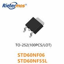 10 Pcs 50 Stuks 100 Stuks STD60NF06 D60NF06 60NF06 STD60NF55L D60NF55L 60NF55L 60NF55 TO252 Originele