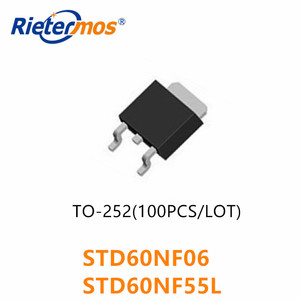 Image 1 - 10PCS 50PCS 100PCS STD60NF06 D60NF06 60NF06 STD60NF55L D60NF55L 60NF55L 60NF55 TO252 원래