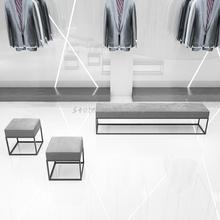 Stool-Shoe Store Nordic-Clothing Simple Fitting Strip Rest Sofa Customizable