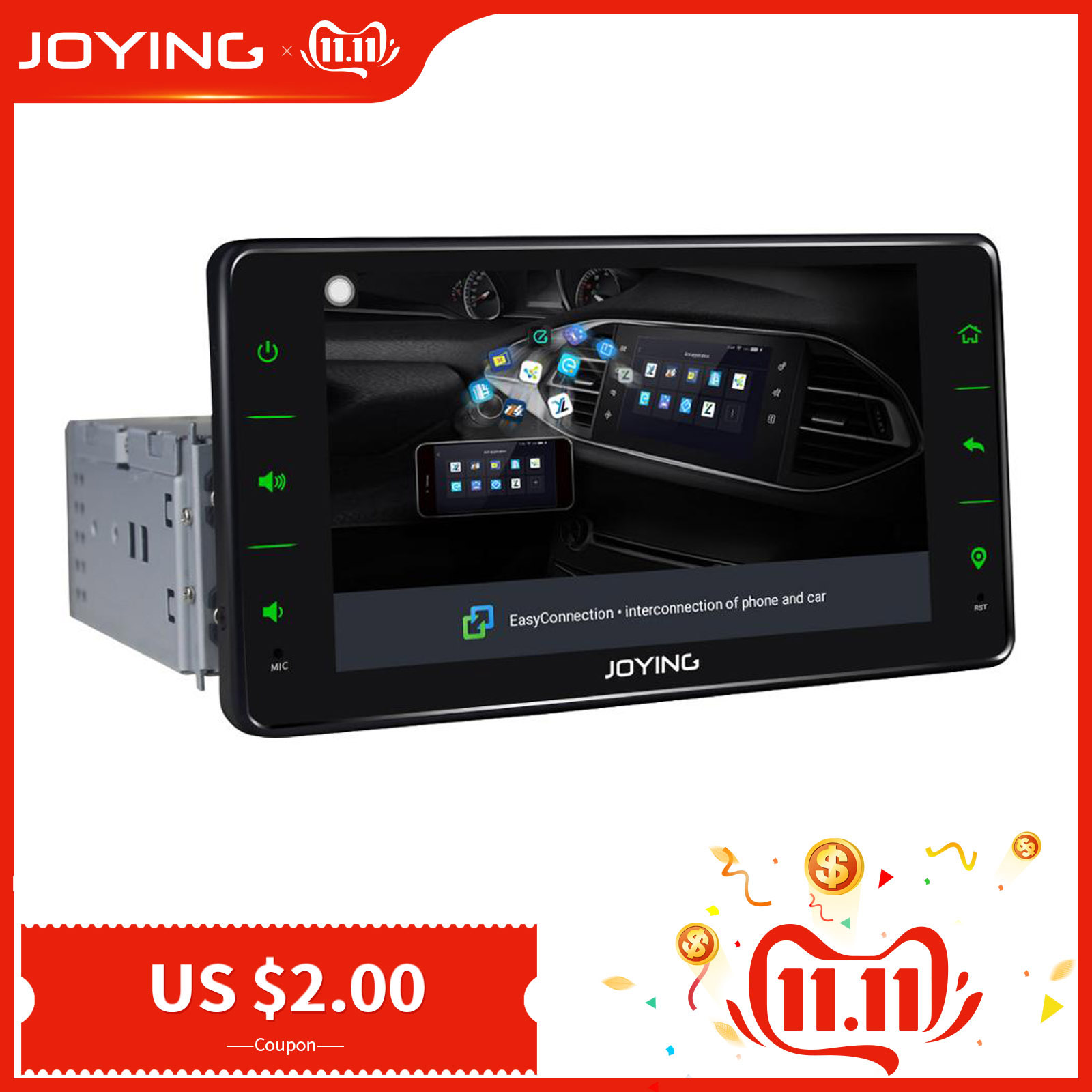 Car Radio Multimedia Single 1 din Android 8.1 Audio Player Navigation GPS Universal Quar Core 6.2 Autoradio with Mirror Link image