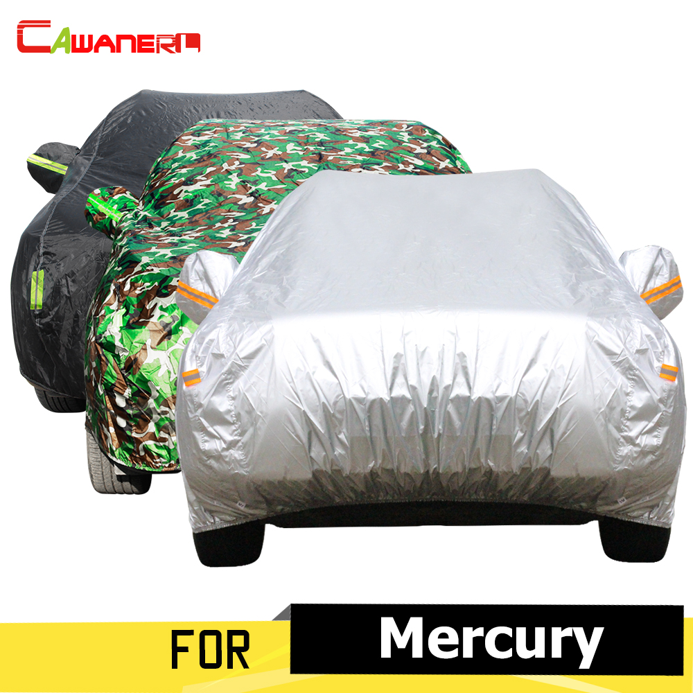 Cawanerl Auto bâche de voiture parasol Anti UV soleil neige pluie Protection couverture pour mercure alpiniste Marauder Cougar Milan Villager