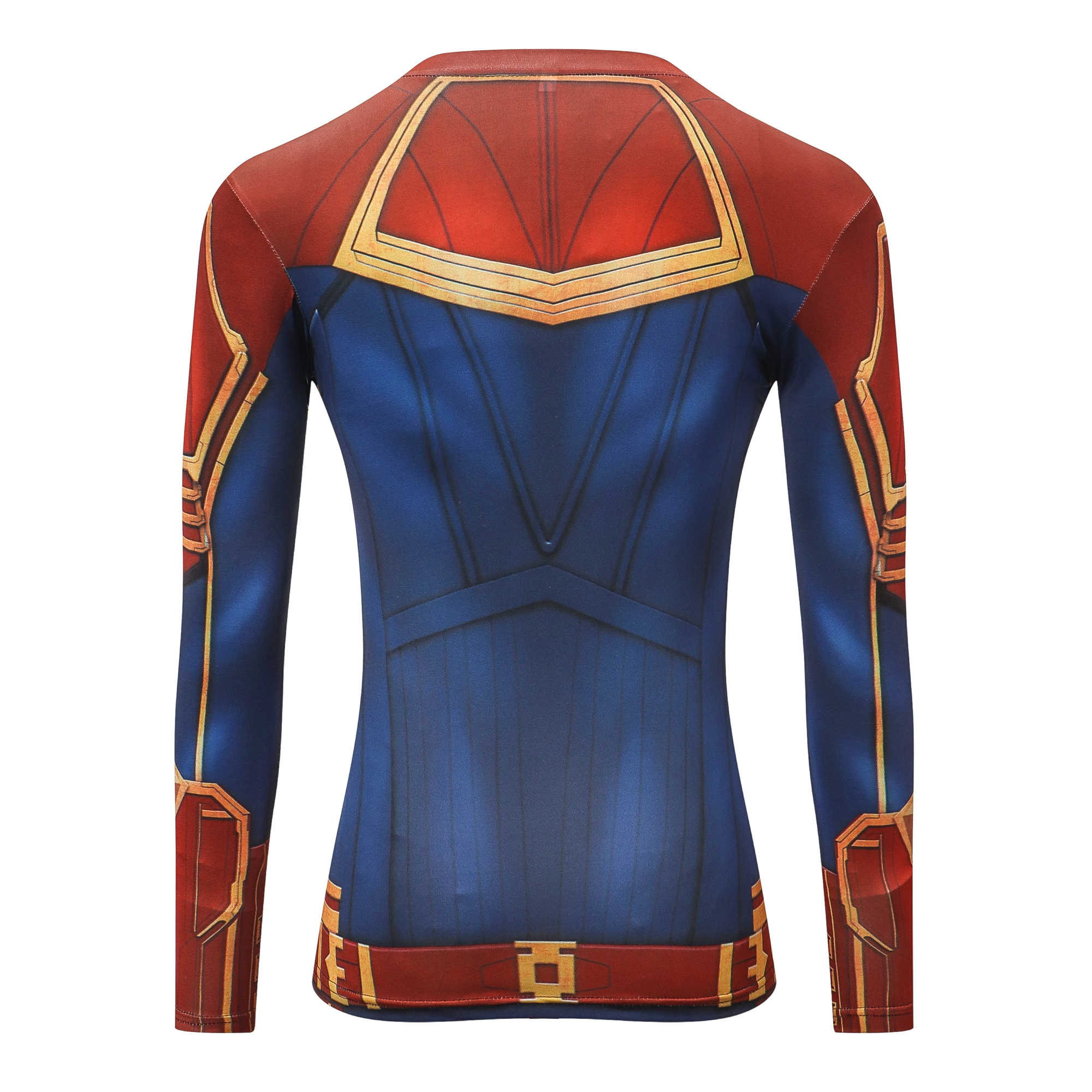 Marvel Косплей Костюм сюрприз капитан женская футболка супер герой костюм 3D женская футболка с длинными рукавами