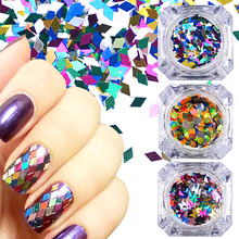 1 Set Mixed Color 3D Ultrathin Sequins Nail Glitter Flakes Sparkly DIY Tips Dazzling Paillette Nail Art Decorations TRP(China)