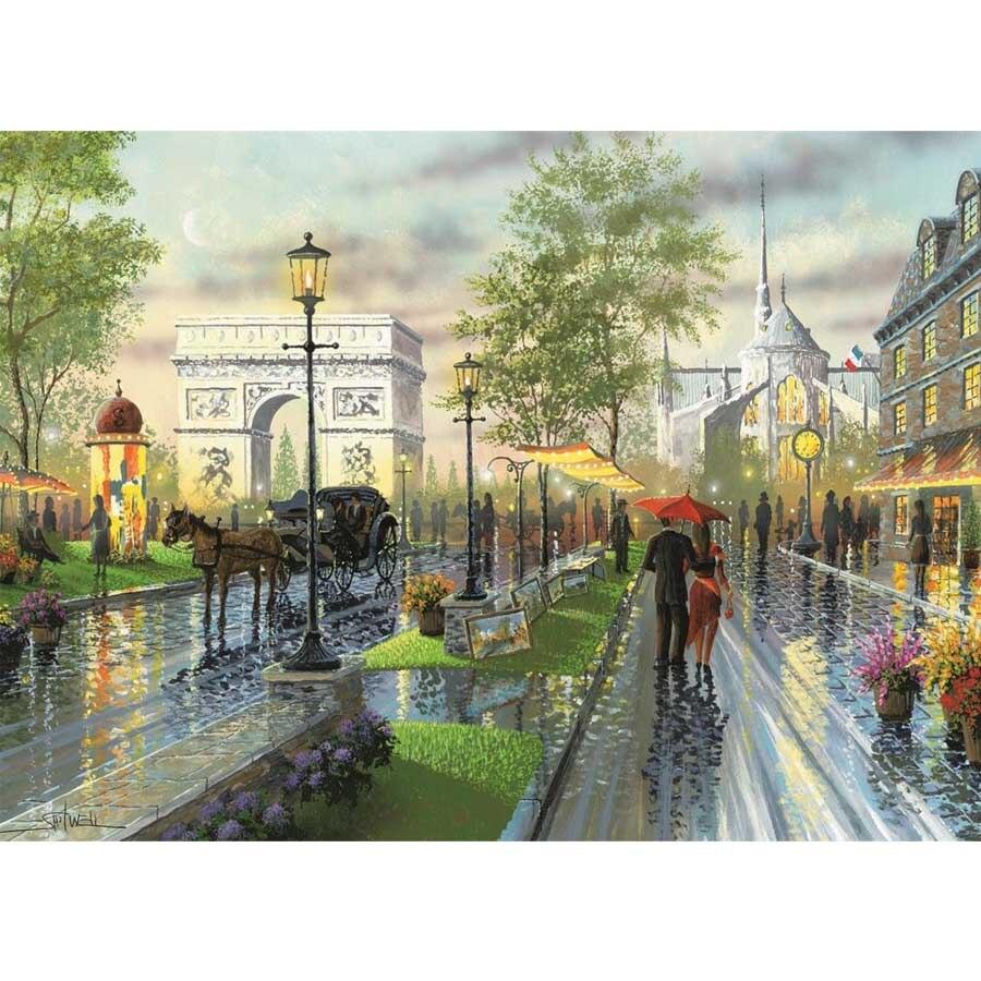 Новое поступление 5D DIY Алмазная картина уличный декоративный бриллиантовый вышивка распродажа дождливый день абстрактная Ландшафтная мозаика с бриллиантами искусство AA842