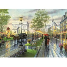 New arrival 5D DIY Diamond Painting Street scenery Embroidery Sale Rainy day abstract landscape Mosaic Art AA842