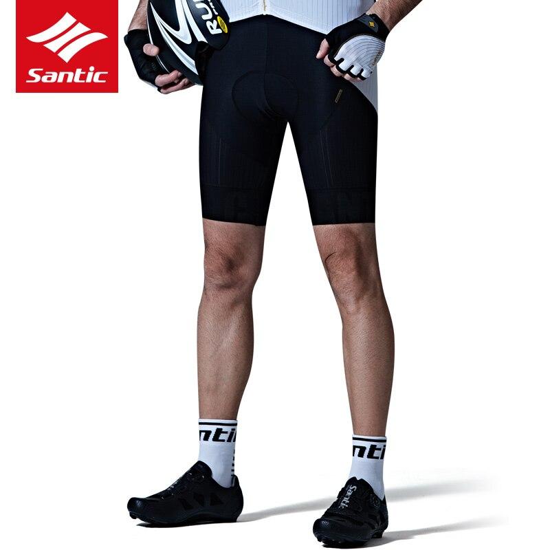 Santic велосипедные шорты весна лето мужские Дышащие анти пот MTB дорожный велосипед шорты 4D Мягкий противоударный гоночный спортивный костюм - 4