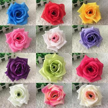 Sztuczne kwiaty róży na wesele dekoracje na imprezy okolicznościowe DIY wieńce Home Garden dekoracyjne sztuczne kwiaty róży dekoracje ślubne tanie i dobre opinie CN (pochodzenie) Artificial Flowers Róża Kwiat Głowy CHRISTMAS Włókniny tkaniny