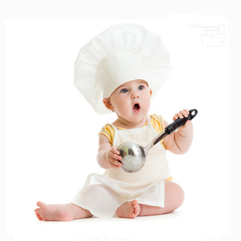 15 days Newborn Shoot Chef Apron Bebe Photo Accessories Set Baby Photogrpahy Props New born