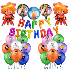 Dragon ball tema decoração balão conjunto festa de aniversário das crianças sun wukong filme de alumínio combinação balão fontes de festa