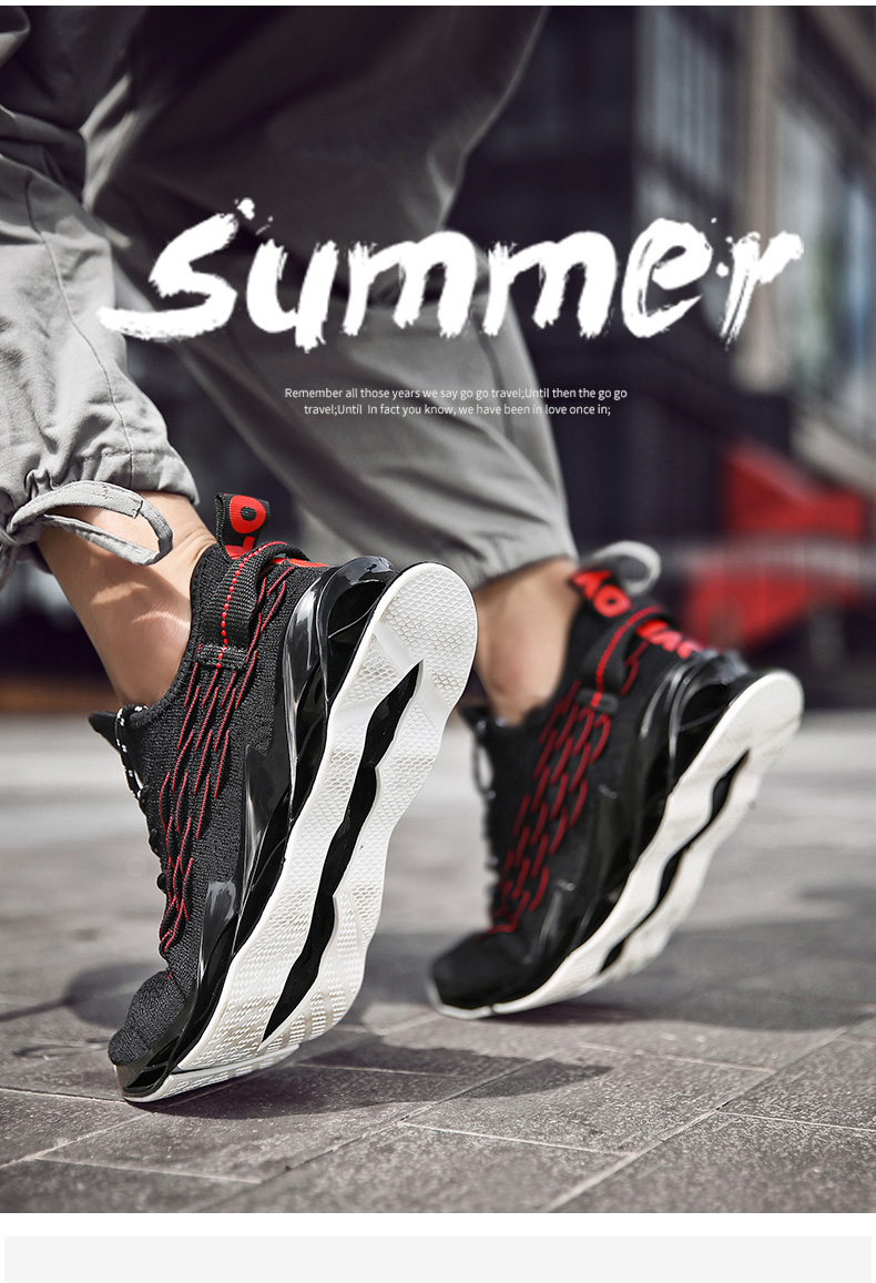 H9cba4d7df8824a1ba7f8147955300b5cj - New Outdoor Men Free Running for Men Jogging Walking Sports Shoes High-quality Lace-up Athietic Breathable Blade Sneakers