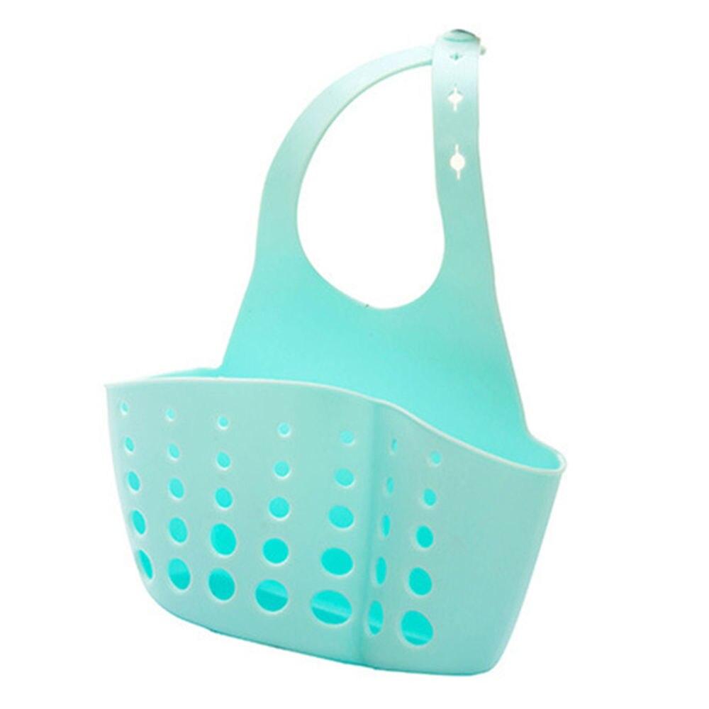 1PC Portable Basket Home Kitchen Hanging Sponge Drain Basket Bag Bath Storage Tools Sink Holder Kitchen Accessory Supplies