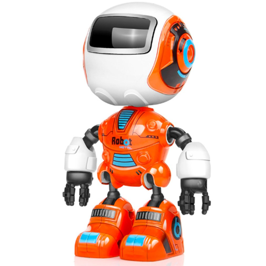 Mini Alloy Cute Pet Robot Toys Funny Touch Induction DIY Puzzle Early Education Robot Model Joint Movable Toys Gift for Children